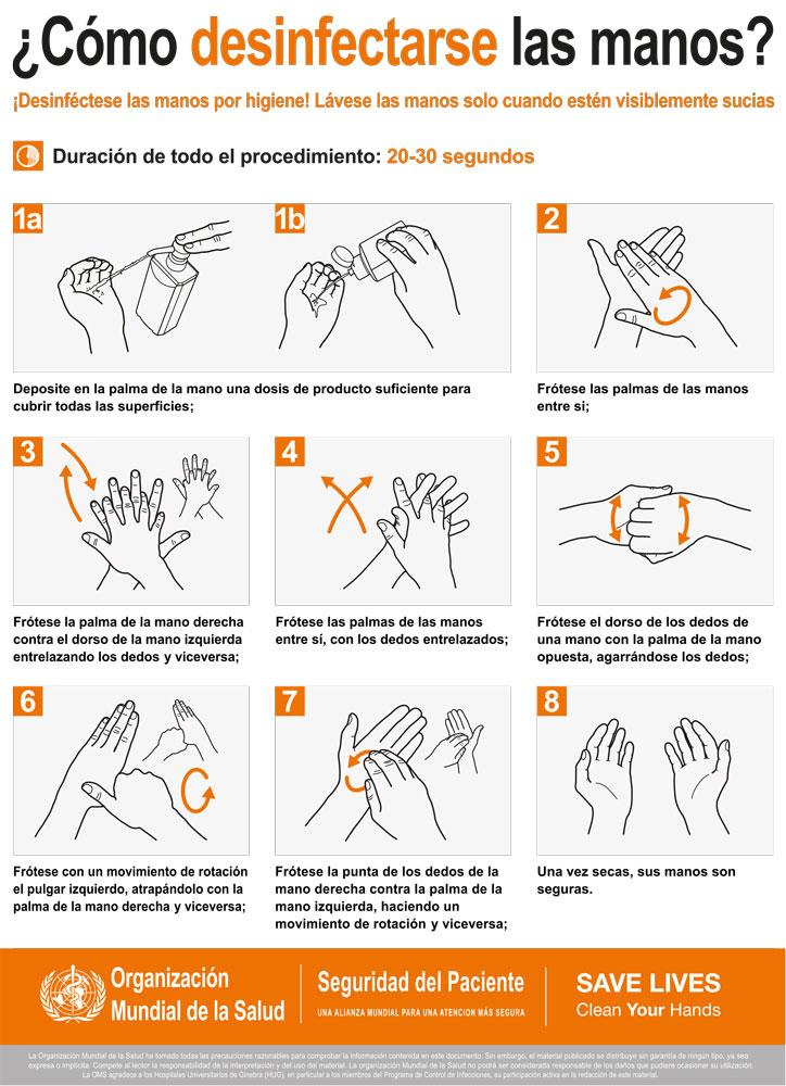 Como Desinfectar Manos